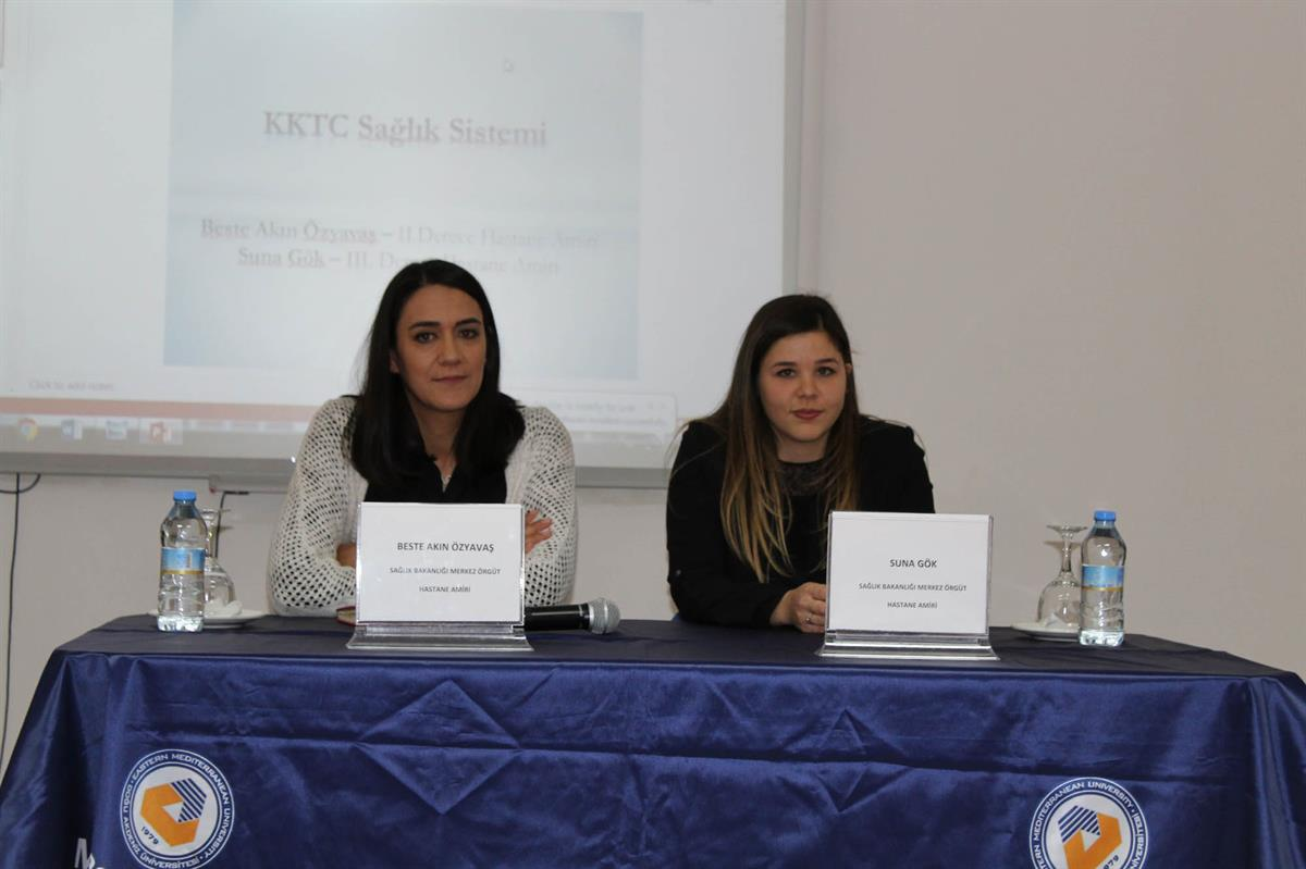 Beste Akın Özyavas and Suna Gök gave a seminar on health management