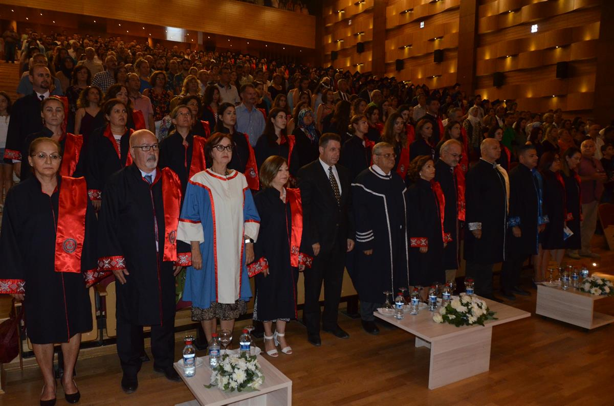 EMU Faculty of Health Sciences Commencement Ceremony was held at Rauf Raif Denktaş Culture and Congress Center