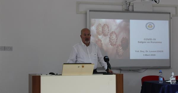 Assist. Prof. Dr. Levent Eker held seminar about COVID-19 Corona virus