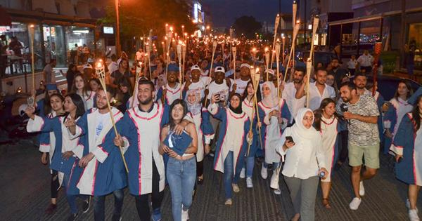 2017-2018 Academic Year Spring Semester Graduates Bid Farewell to The City Through a Torchlight Procession
